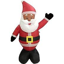 Nicky Bigs Novelties 48 Inch Ethnic Santa Holiday Inflatable Yard Decoration