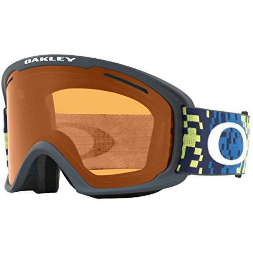 Oakley O-Frame 2.0 XL Asian Fit Snow Goggles, Pixel Fade Iron Laser Frame, Persimmon Lens, - Frame Oakley O Matter