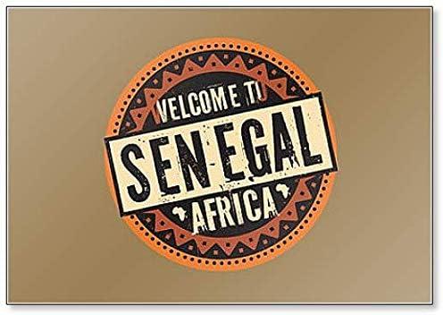 Aimant de r/éfrig/érateur avec inscription /« Welcome to Senegal Africa /»
