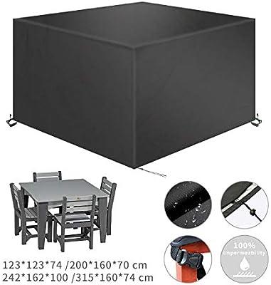 TAOCOCO Funda para Muebles de Jardín Impermeable, protección contra el Polvo y los Rayos UV, Cubierta de Mesa y Silla para Muebles de jardín, Resistente al Agua y sin decoloración, 315x160 x74 -