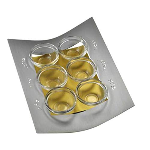 Gold Frame Seder Plate by Adi Sidler