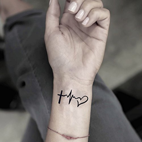 (Faith Love Hope Temporary Fake Tattoo Sticker (Set of 2) -)