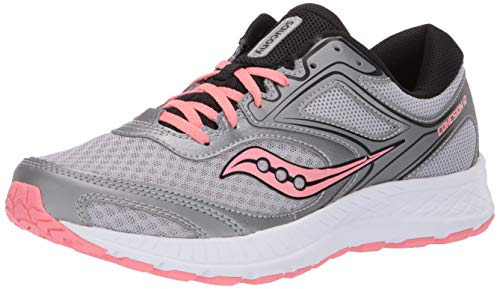 Saucony Women's VERSAFOAM Cohesion 12 Road Running Shoe Silver/Pink 9.5 M US