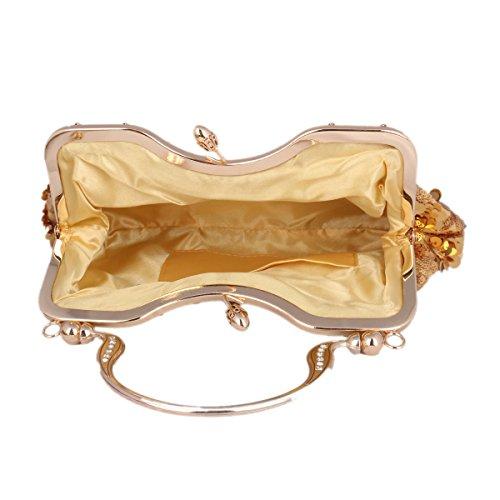 Pochette clutch avec Paillette Pochette de Sur L'apparence Femme Or Argent Sac Soirée TnTZ1A