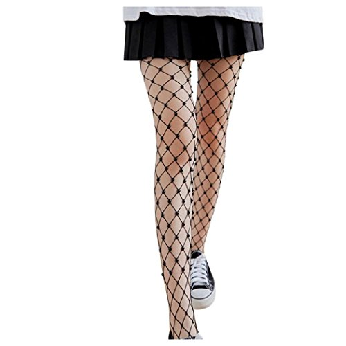 Inkach Trendy Women Fishnet Socks Girls High Waist Tight Silk Stockings Lady Mesh Pantyhose Black Qo7HE6UV