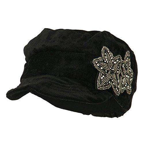 Beaded Velvet Hat - 6