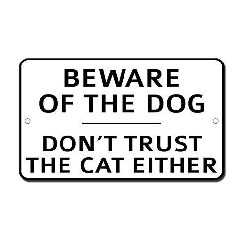 Cuidado con el perro no confiar en el gato decoración del ...
