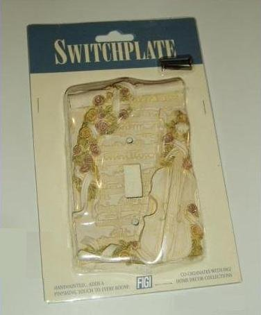 - Symphony Sheet Music & Instrument Switch plate Cover - Cello Violin - Floral