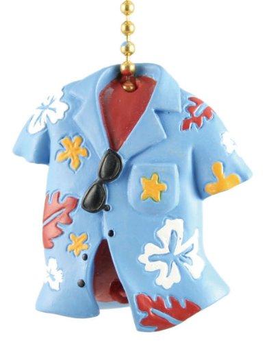 Clementine Designs Hawaiian Floral Shirt Tiki Tropical Ceiling Fan Pull