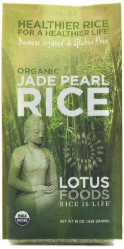 Lotus Foods Gourmet Organic Jade Pearl Rice, 15-Ounce (Pack of - Green White Pearl