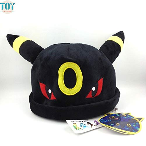 VIETXA New Umbreon Plush Toy Cosplay Cap M Hat Winter Beanies Costume Soft Plushie Anime Cartoon for Adults Teenagers -Multicolor Complete Series Merchandise