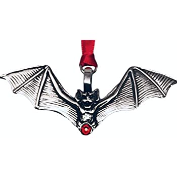 Trilogy Jewelry Gothic Bat Vampire Red Crystal Christmas Ornament