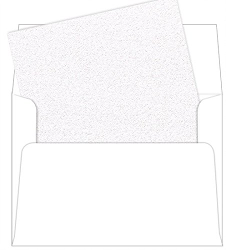 A7 Ice Silver Metallic Envelope Liners, Curious Metallics, 25 Pack - Silver Envelope Liners