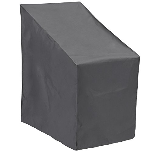 Patio Watcher Stackable Patio Chair Cover, Durable and Waterproof Out Furniture Chair Cover,Grey