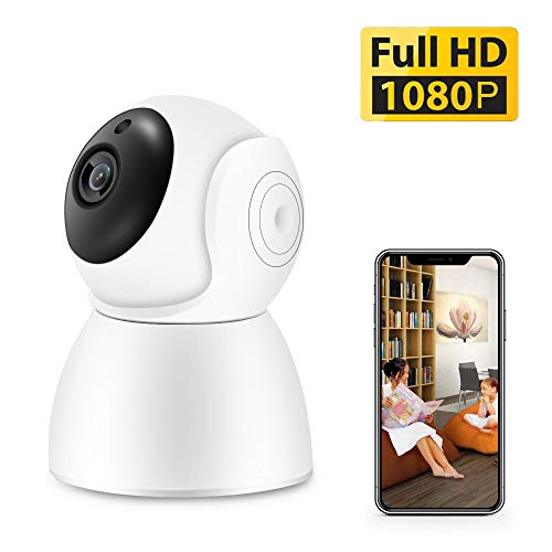 1080p Home Camera,Indoor Wireless WiFi Home IP Security Camera,AAJO Panoramic Pet Camera, Baby Monitor with 2-Way Audio, Night Vision, Remote Monitor with iOS & Android App, Micro SD Card Storage