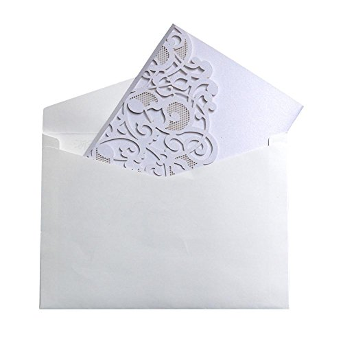 10PCS European Style Laser Cut Wedding Party Invitations Cards,Tri-Fold Lace Business Invitation Cards Party Decoration