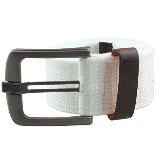 moonsix Canvas Web Belts for Men,Solid Color Casual Belt with Pin Buckle ()