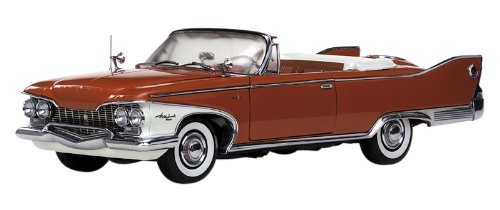 1960 Plymouth Fury Open Convertible Valiant Red 1/18 by Sunstar - Trunk Plymouth Valiant