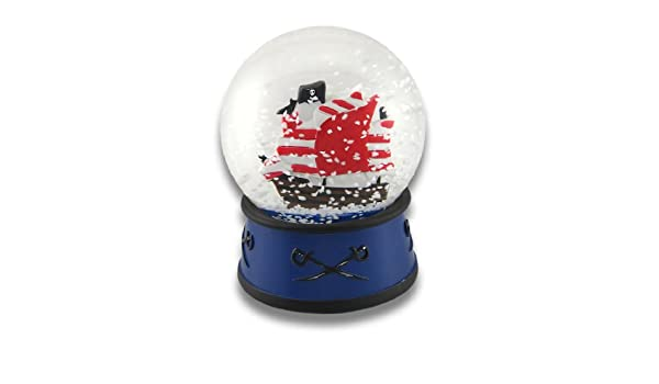 Amazon Com Things2die4 Children S Pirate Ship Snow Globe 4 In Home Kitchen