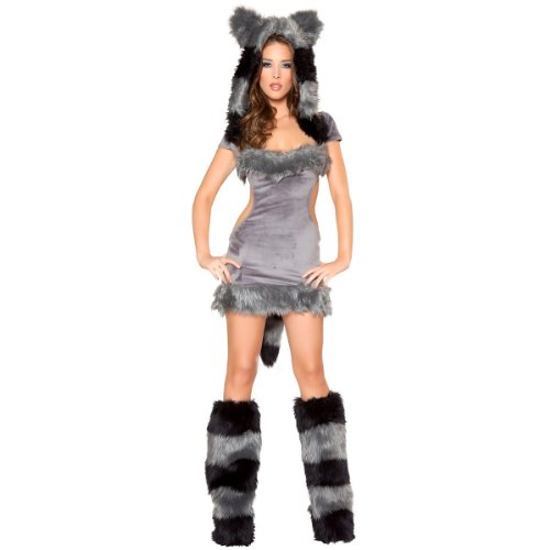 [Naughty Raccoon Adult Costume - Medium] (Naughty Raccoon Sexy Costumes)