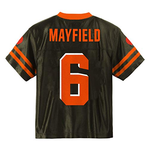 Outerstuff Baker Mayfield Cleveland Browns #6 Brown Youth Player Home Jersey (Medium 10/12)
