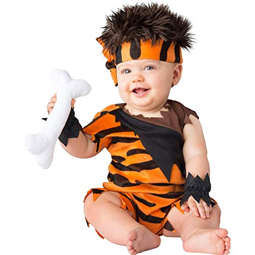 Pebbles Costume For Baby (InCharacter Baby Caveman Cutie Costume Size Medium 12-18)