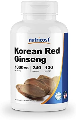 Nutricost Korean Ginseng 500mg Capsules product image