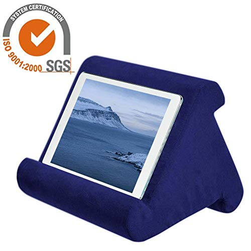 iPad Pillow Holder for Lap Tablet Pillow Holder Reading in Bed, Universal Phone & iPad Pillow Holder Stand for Lap, Knee, Desk, Sofa, Floor (For Pillows Pyramid Reading)