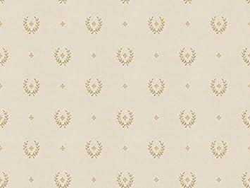 Papier Peint Beige Clair Avec Dessin Paillete Or M5251 Mini Classic