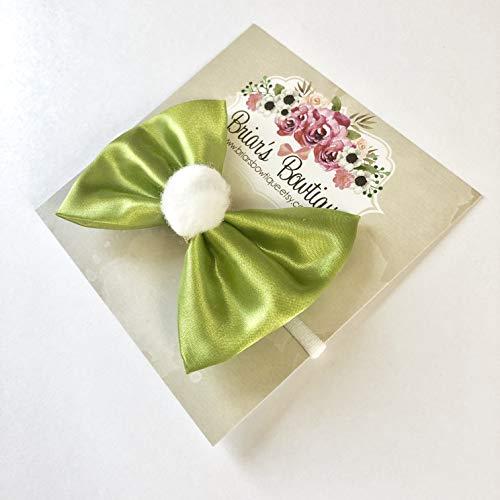 Tinkerbell Bow Headband or Hair Clip -