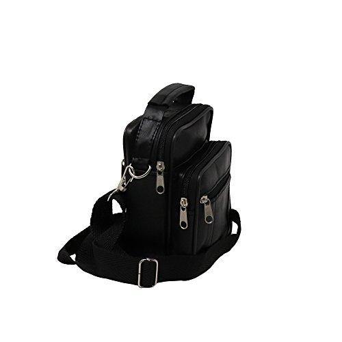 Victory Furrier Vertical Cross Body Shoulder Bag Genuine Leather Messenger Handbag (Small)