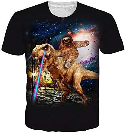 GJCDGPZTX Tamaño Dinosaur Sloth 3D Camiseta Hombre Camisa Animal Print Ropa Verano Hombres Mujeres Unisex Camiseta: Amazon.es: Deportes y aire libre
