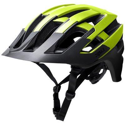 Kali Protectives 0221318116 Fahrrad Helm Unisex Erwachsene, schwarz Neongelb, Größe  M