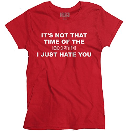 Pms T-shirt Girls (Classic Teaze Time Month Hate You Funny Shirt | PMS Period Girl Sarcastic Ladies T-Shirt)