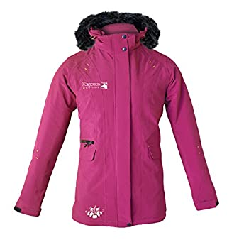 DEPROC-Active Manteau pour femme Urban Outdoor Softshell Veste longue Dawson de Lady, Femme, Mantel Urban-outdoor Softshell Longjacket Dawson Lady, Purple