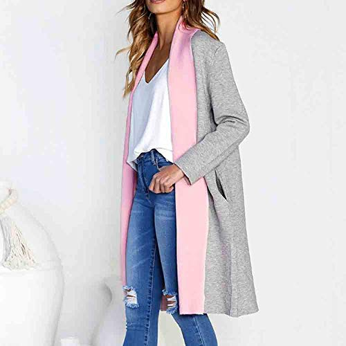 Ladies Thick Pink Long Thickening Solid Jacket Sleeve Winter for Jacket Cotton MOIKA for Jacket Women YX8nRqq
