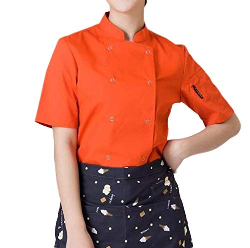 Moda Vintage Classiche Giacca Corto Outerwear Double Slim Cucinare Arancia Donna Glamorous Corta Confortevole Semplice Cappotto Fit Manica Breasted Monocromo Estivi Eleganti AxXIwYn