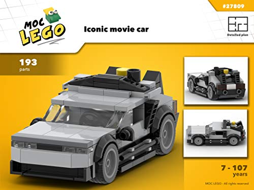 Iconic movie car (Instruction Only) (MOC Book 27809) por Bryan Paquette