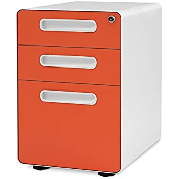 Amazon Com Poppin White Navy Stow Rolling 3 Drawer