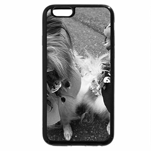 iPhone 6S Plus Case, iPhone 6 Plus Case (Black & White) - Dogs Ready for Halloween
