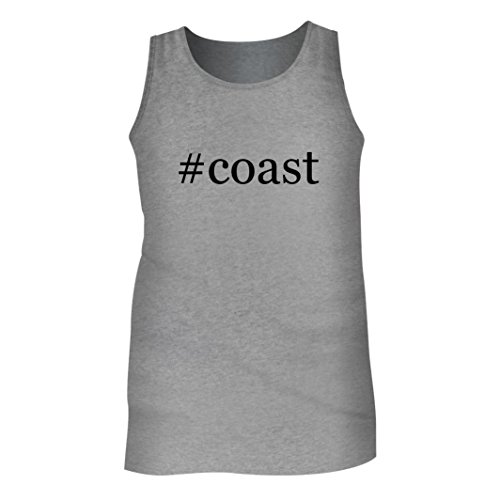 #Coast - Men's Hashtag Adult Tank Top, Heather, - Coast Map Plaza South Of