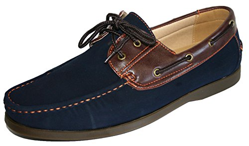 taglie dalla 45 5 alla 40 pelle 5 in Shoreside Coolers disponibili Navy finta nubuck mocassini q7Yww8