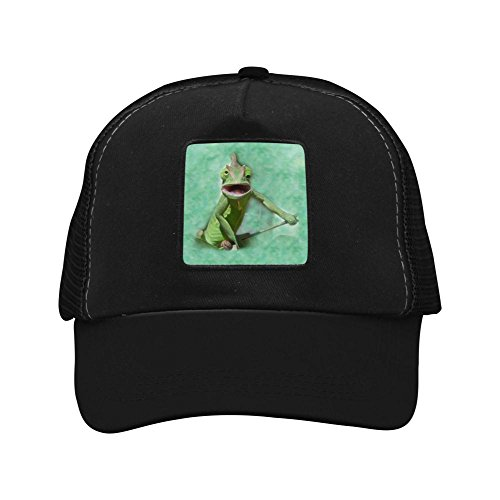 Nichildshoes hat Adult Mesh Cap Hat Adjustable for Men Women Unisex,Print Lizard Black (E30 Rack)