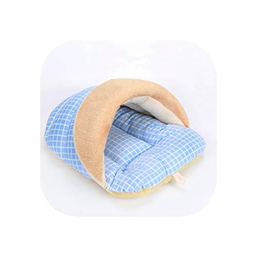 Winter Pet Dog Beds Mattress Blanket Kennel Sleeping Mat Cloth Fabric Filling High Elasticity Terylene Dog Mat Cat House,Blue,M 42x33x26cm