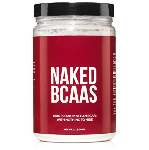 Bcaa Creatine Powder - Naked BCAAs Amino Acids Powder - 100 Servings - Vegan Unflavored Branched Chain Amino Acids 500 Grams | 100% Pure 2:1:1 Formula - Instantized All Natural BCAA Powder Supplement to Increase Gains