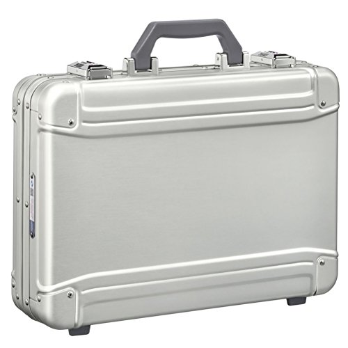 Zero Aluminum Briefcase - Zero Halliburton Geo Aluminum 3.0 Large Attaché Briefcase, Silver, One Size