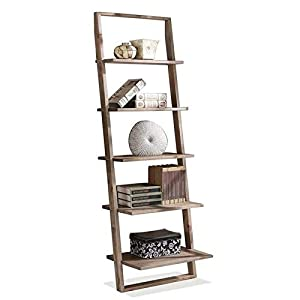 Beaumont Lane Leaning Bookcase in Smoky Driftwood