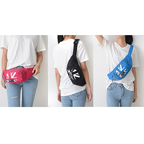 Fanny Pack SINOKAL Waist bag for Men Women Bum Bags Travel Hiking Hip Bum Waist Bag (Grey) by SINOKAL (Image #4)