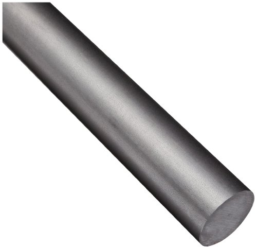 - 12L14 Steel Round Rod, Unpolished (Mill) Finish, ASTM A108, 2.000