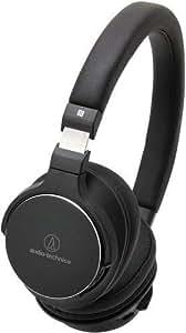 Audio-Technica ATH-SR5BTBK Bluetooth Wireless On-Ear High-Resolution Audio Headphones with Mic & Control, Black